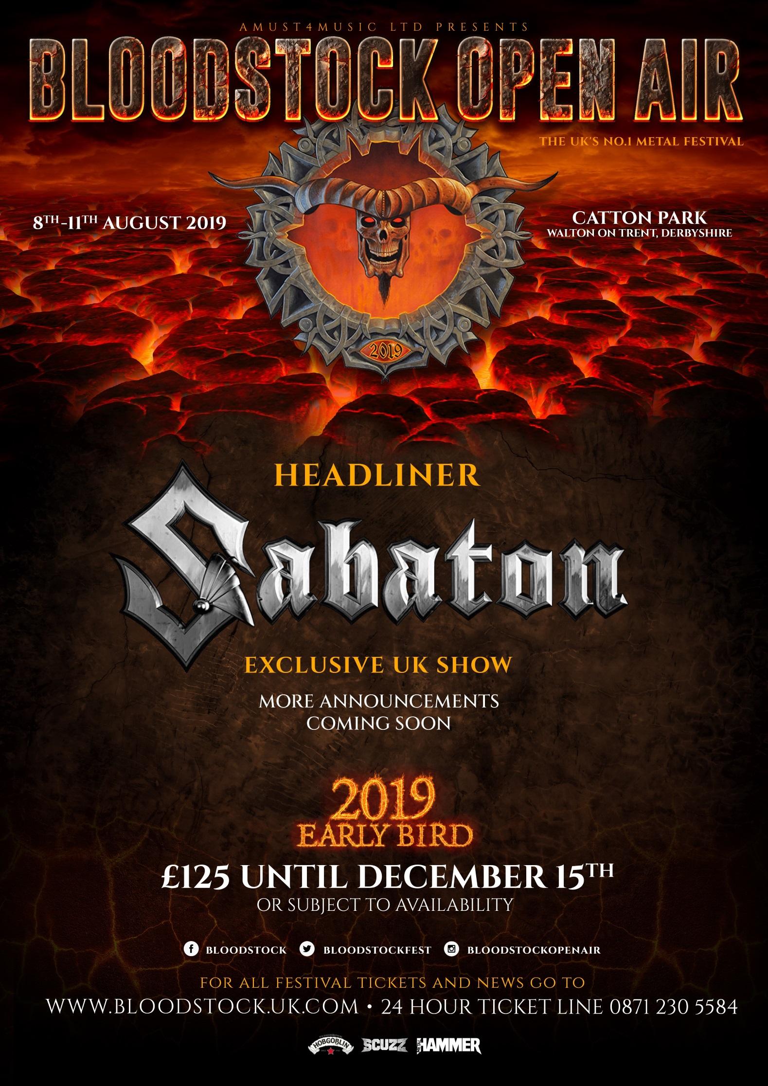 Bloodstock 2019 -Sabaton poster