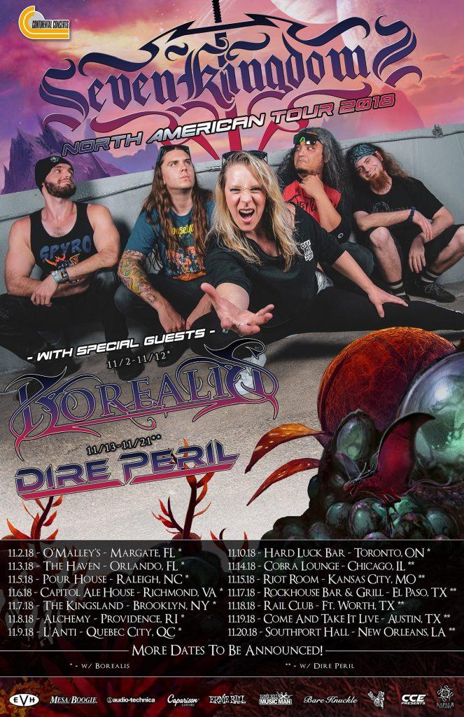 Seven Kingdom Tour Dates w/ Dire Peril