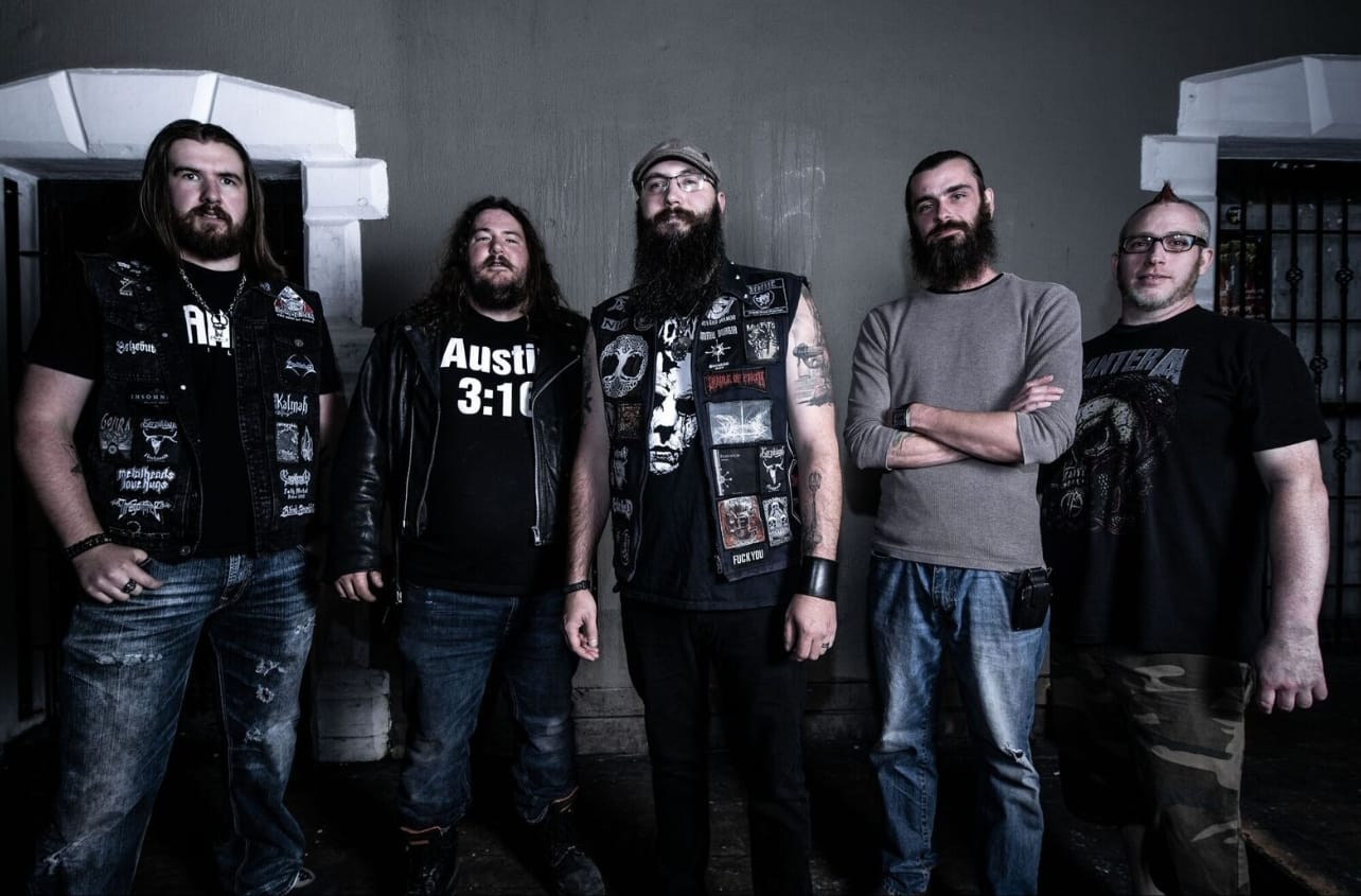 Sons of an Eastern Moon. Left to right: Guitars - John Guitars- Cory Vocals - Thor Bass - Rob Drums - Ben