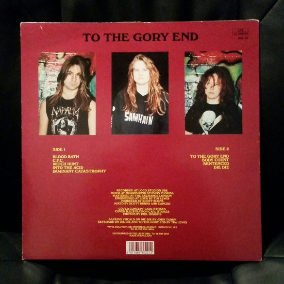 Cancer - To The Gory End (back)
