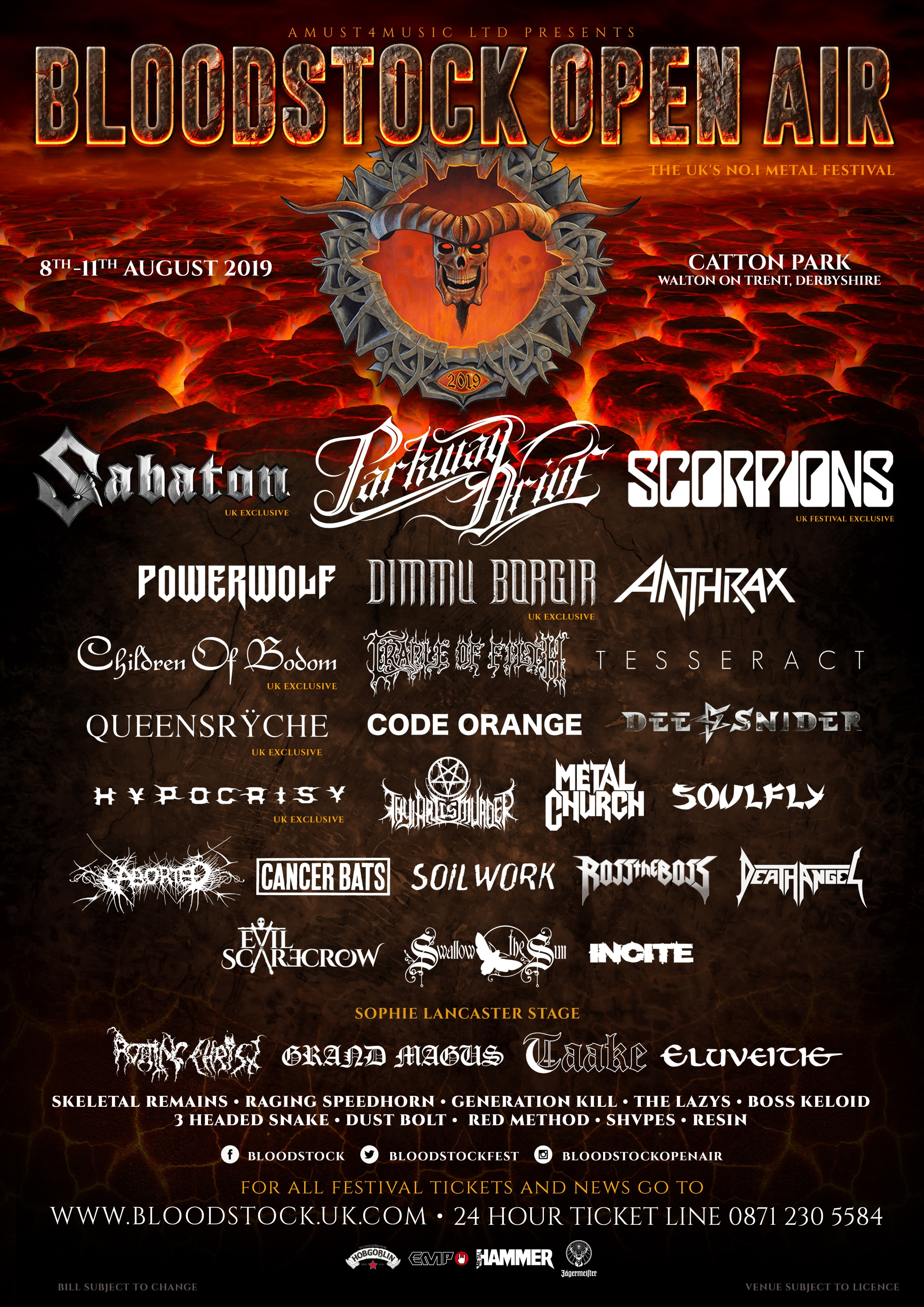 BLOODSTOCK 2019 POSTER MARCH REVISED