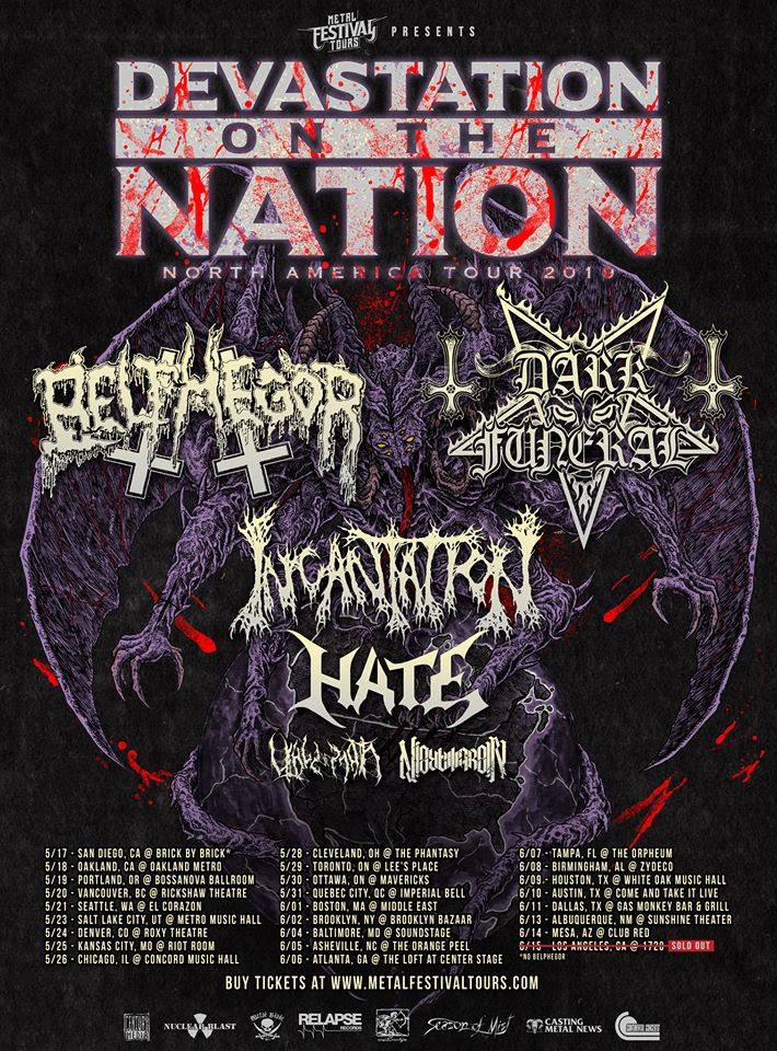 HATE To Kick Off Devastation On The Nation North American Tour; New Video Now Playing