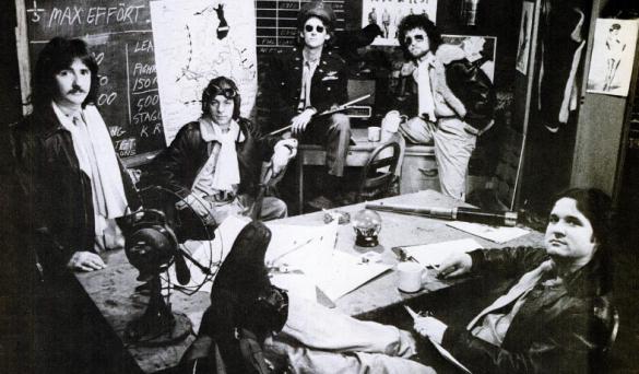 "BÖC in 1974: Joe, Albert, Allan Lanier, Eric Bloom, and Don ""Buck Dharma"" Rose."