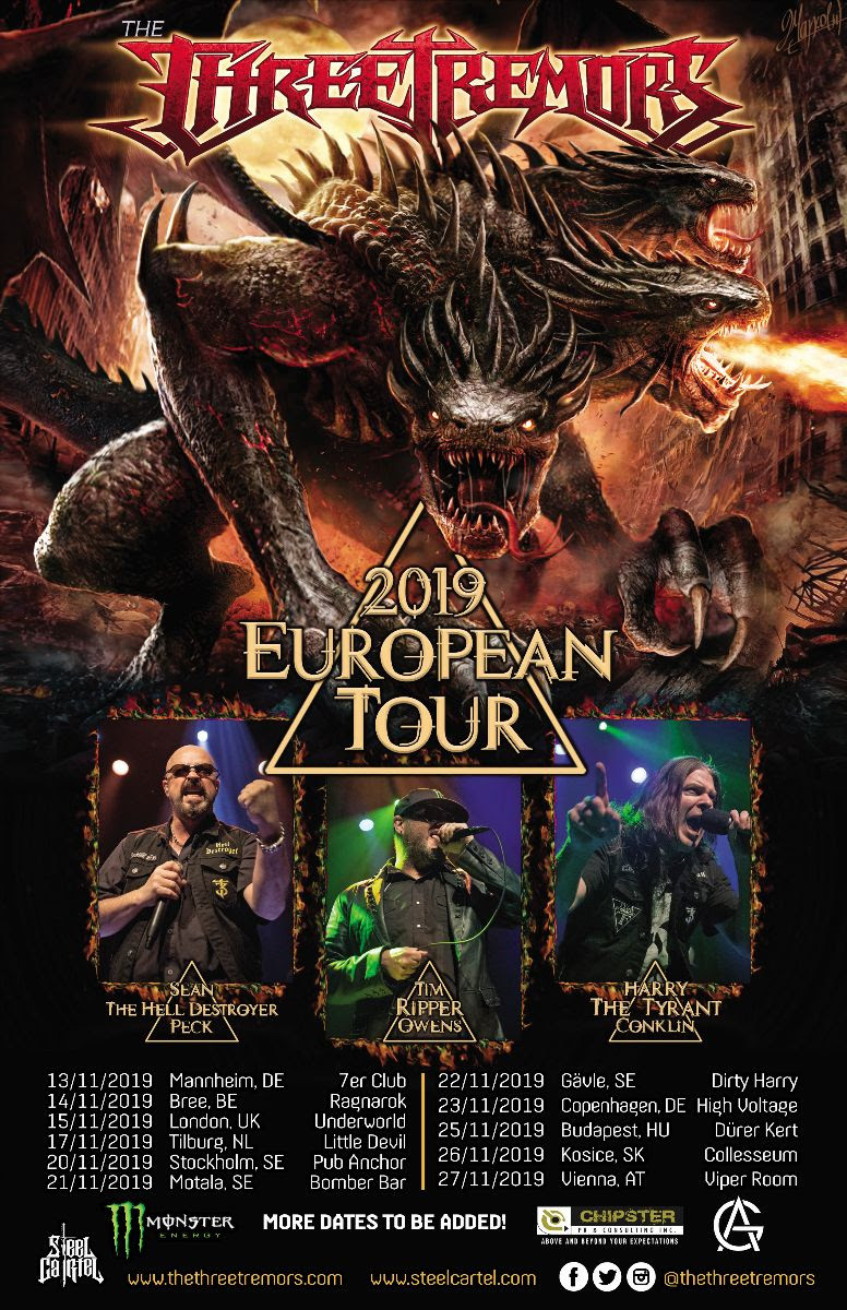 THE THREE TREMORS 2019 tour