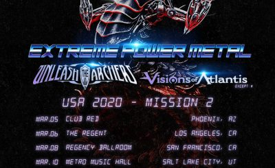 UNLEASH THE ARCHERS and VISIONS OF ATLANTIS Announce Upcoming USA Tour with Dragonforce