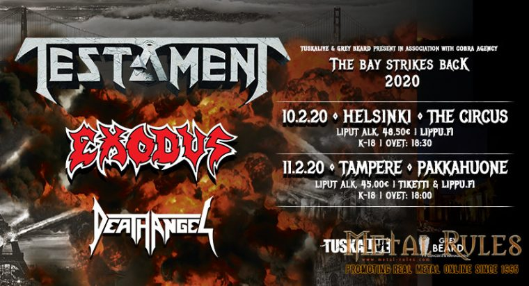 THE BAY STRIKES BACK! Testament, Exodus, and Death Angel: live at the Circus, Helsinki