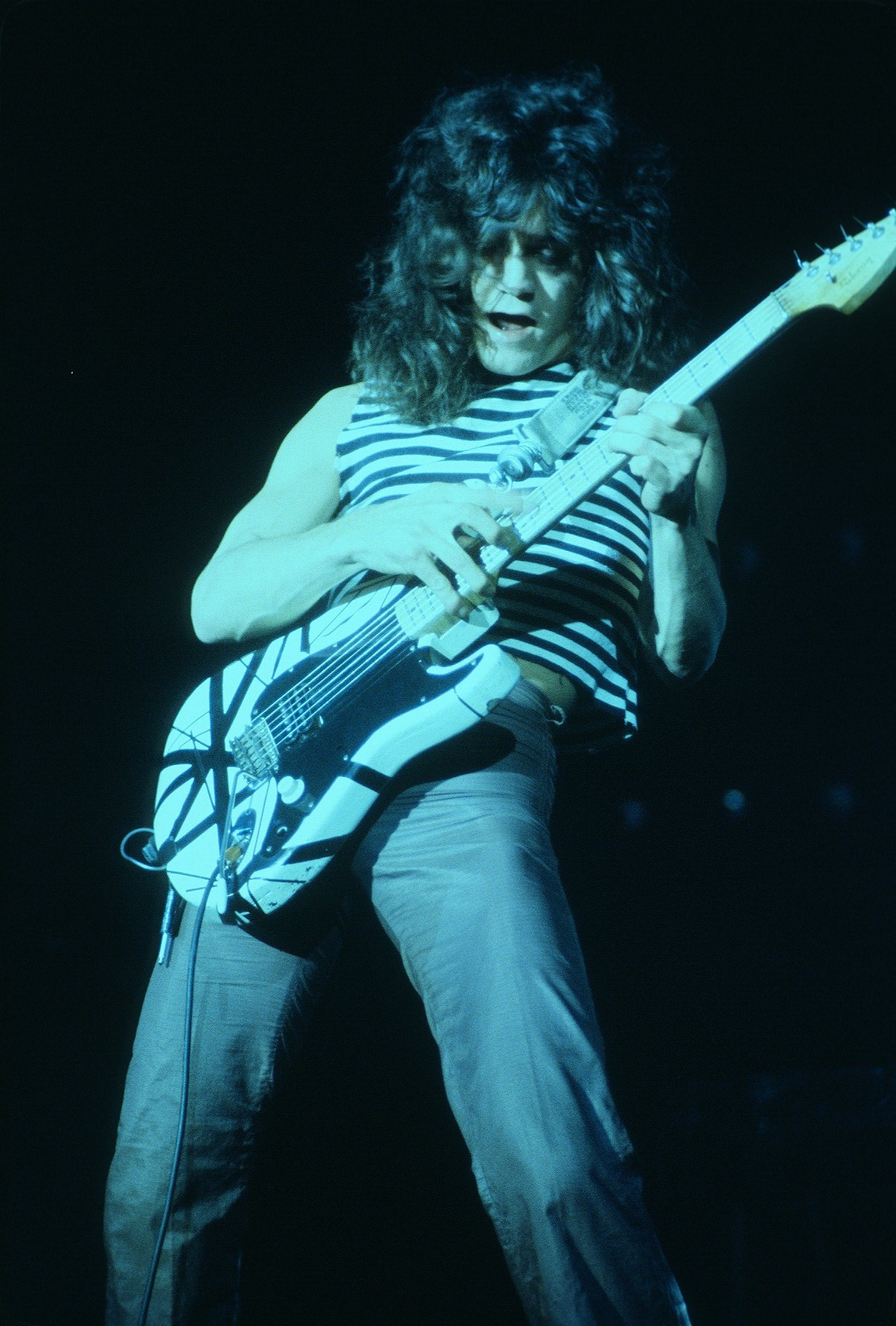 Eddie Van Halen performing at the New Haven Coliseum. Photo by Carl Lender.