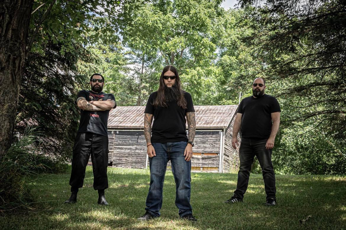 Blood of Christ: L - R: Jason Longo - Drums, Hank Bielanski - Bass & Vocals, Jeff Longo - Guitars Photographer Credit - Debbie Longo