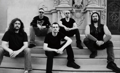 Nightshadow: L-R – Sean Woodman – Drums, Chris Bader – Bass, Nick Harrington – Guitar, Danny Fang – Guitar, Brian Dell – Vocals Photo Credit – Flo Li